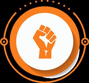Badge témoignant des convictions, expériences et implications