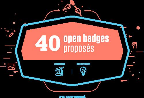 40 open badges proposés