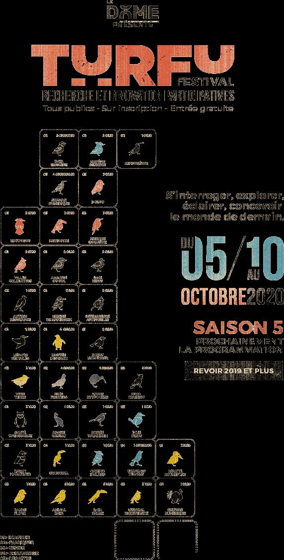 TURFU Festival du 5 au  10 octobre 2020